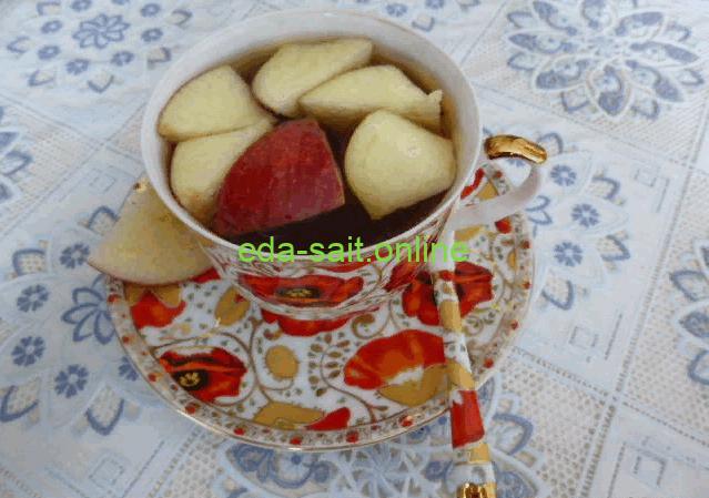 Чай с яблоками фото