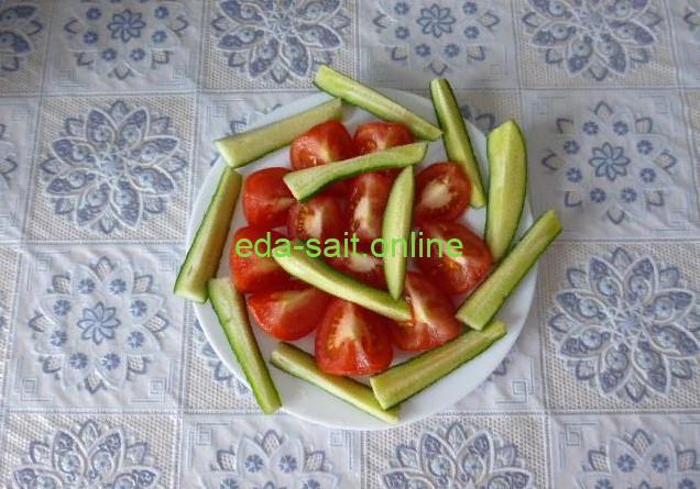 Овощная нарезка просто и быстро