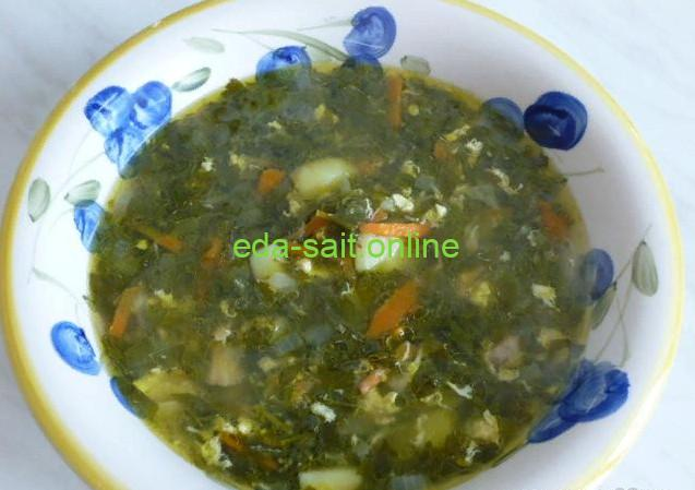 Суп из свежего щавеля фото