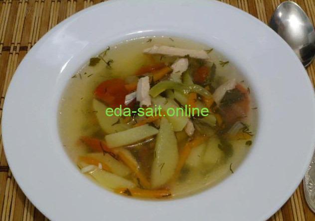 Суп с куриной грудкой фото