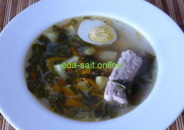 Суп с щавелем фото