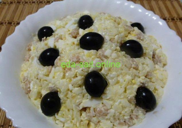 Салат из консервированной фасоли с рисом фото