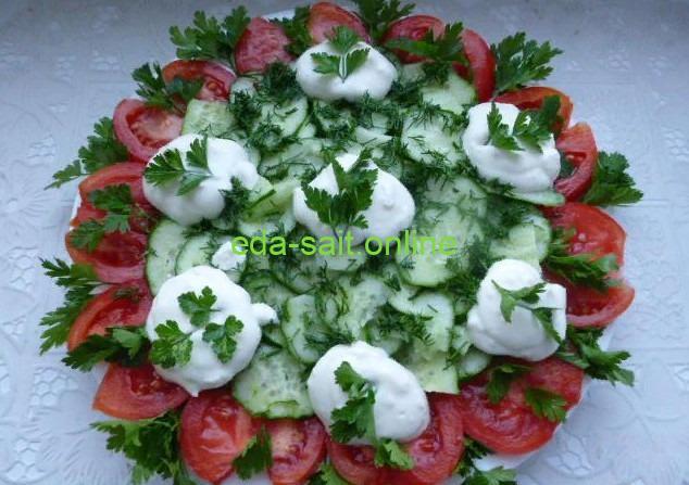 Свежие помидоры и огурцы красивая подача фото