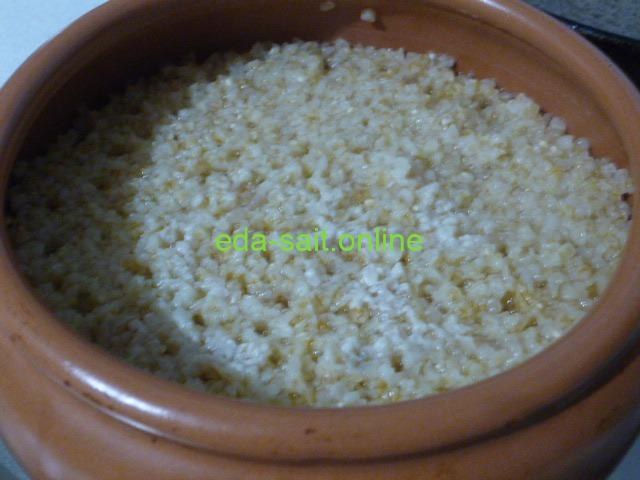 Пшеничная каша в духовке
