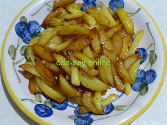 Картошка жареная на маргарине фото