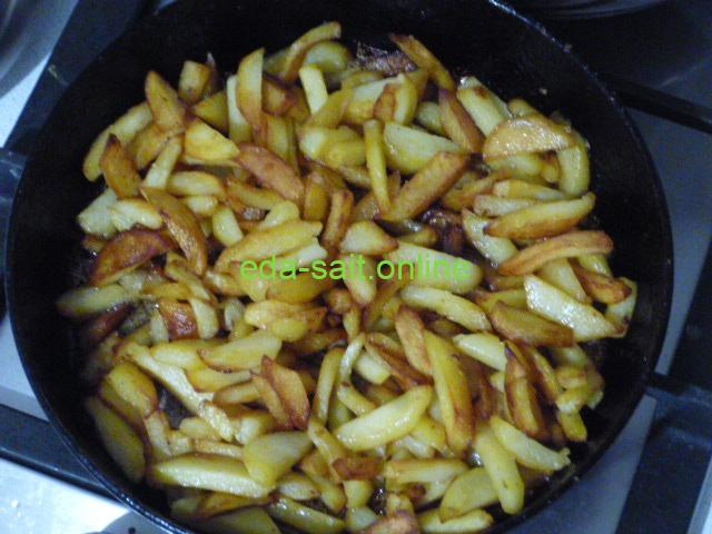Картошка жареная на маргарине пошаговый рецепт с фото