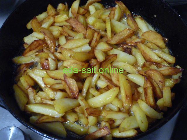 Картошка жареная на маргарине