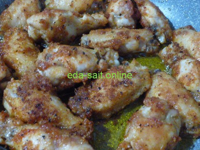 Куриные крылья барбекю от Магги фото