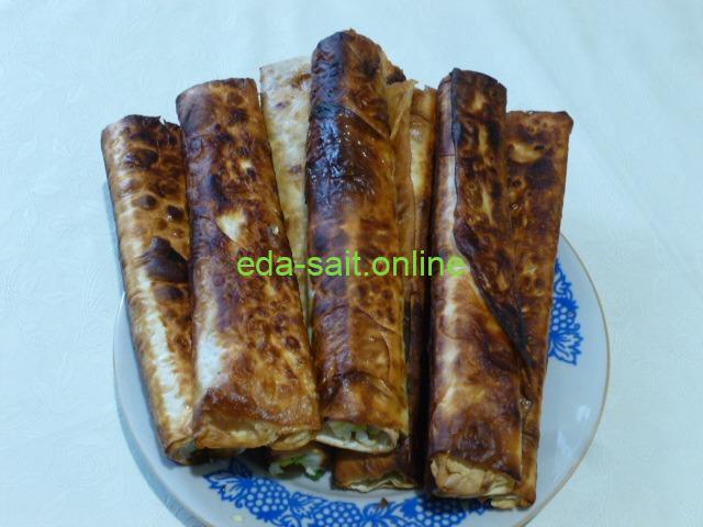 Трубочки из лаваша пошаговый рецепт с фото
