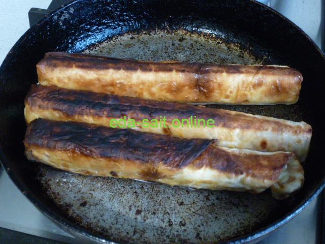 Жареные трубочки из лаваша