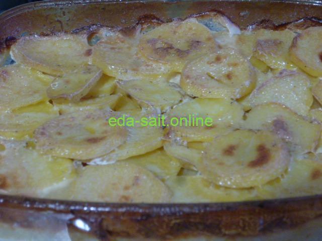 Картошка со сливками в духовке фото