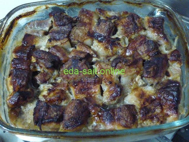 Шашлык из свиной грудинки пошаговый рецепт с фото