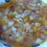 Простой картофельный суп с курицей