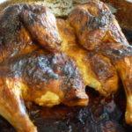 Целая курица запеченная в духовке