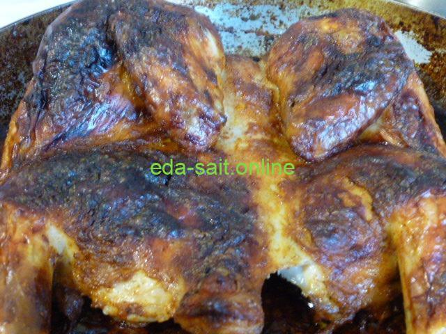 Целая курица запеченная в духовке пошаговый рецепт с фото