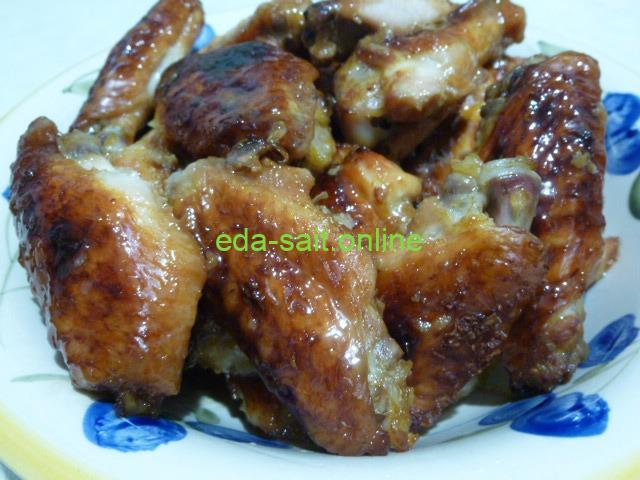 Как приготовить куриные крылья в медово-соевом соусе