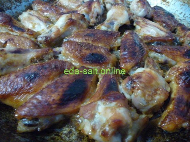 Куриные крылья в медово-соевом соусе пошаговый рецепт с фото