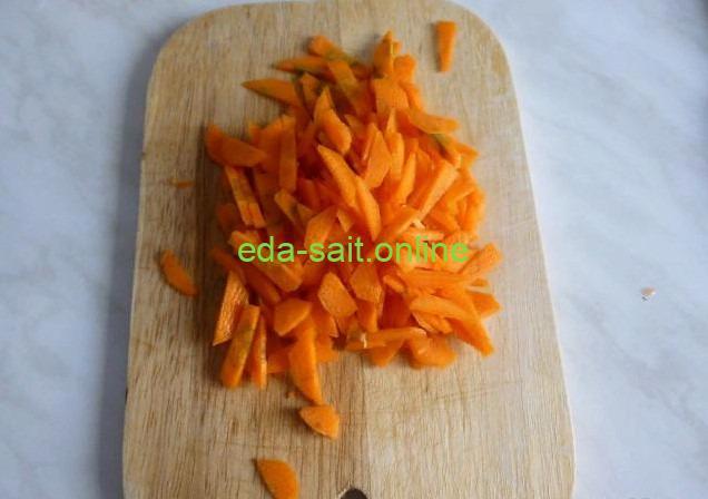Нарезать морковь для лагмана
