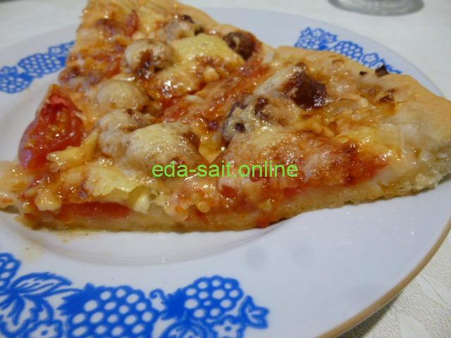 Пицца с колбасками пошаговый рецепт