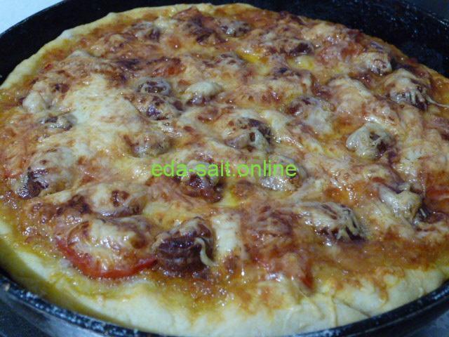 Пицца с икрой фото