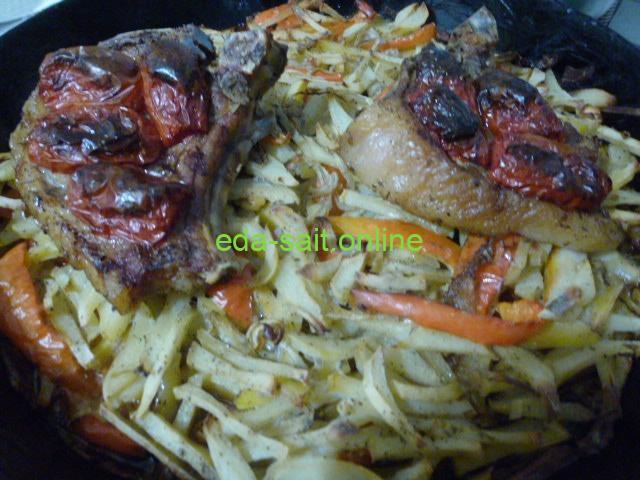 Стейки из свинины с овощами пошаговый рецепт с фото