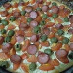 Пицца без сыра в духовке-простой рецепт