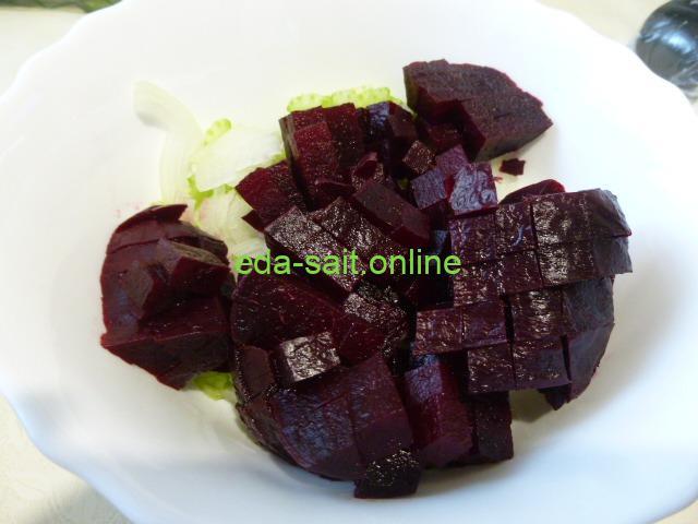Салат из свёклы и сельдерея пошаговый рецепт с фотографиями